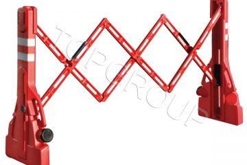 Barierki nożycowe (składane) proste PVC – producent TopArchitektura.pl