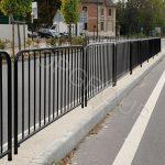 barierki uliczne z prętami