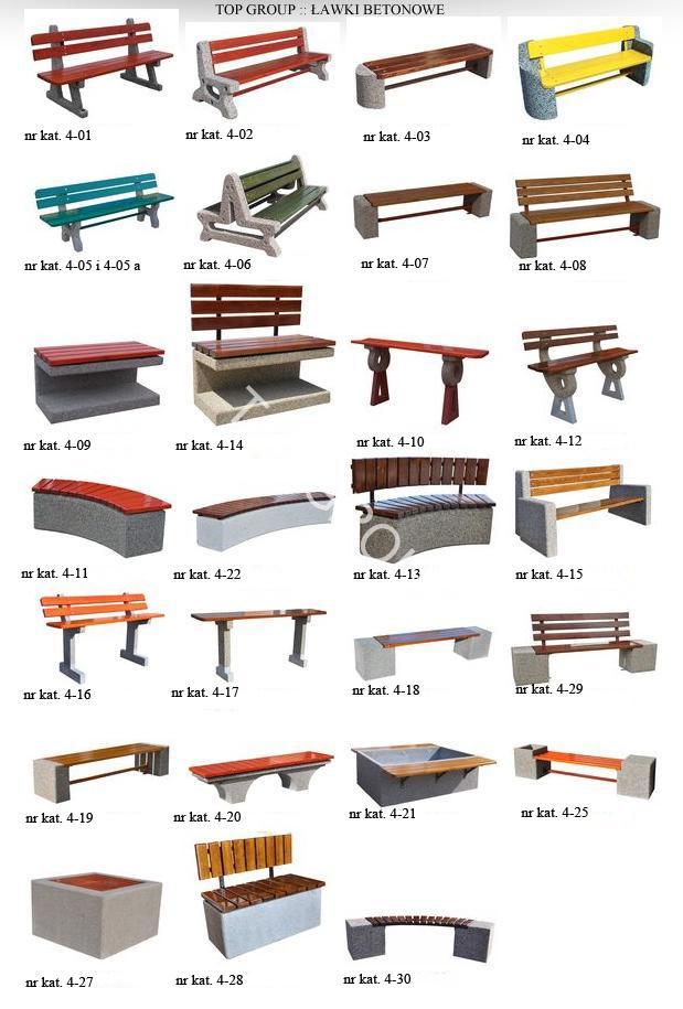 Poważnie Ławki betonowe, ławka betonowa, ławki parkowe betonowe, ławka RF74
