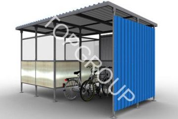 Wiata rowerowa Combined – TopArchitektura.pl – producent wiat rowerowych