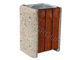 Kosz betonowo-drewniany kwadratowy 1-24 menu