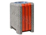 Kosz betonowo-drewniany kwadratowy 1-39 menu