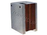 Kosz betonowo-drewniany kwadratowy 1-52b menu