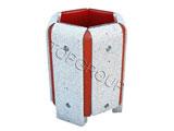 Kosz betonowo-drewniany sześciokątny 40l 1-22 menu