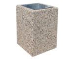 Kosz betonowy kwadratowy 40l 1-27 menu