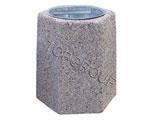 Kosz betonowy sześciokątny 40l 1-03 menu