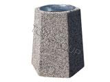 Kosz betonowy sześciokątny 40l 1-04 menu