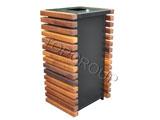 Kosz metalowo-drewniany kwadratowy 1-59 menu